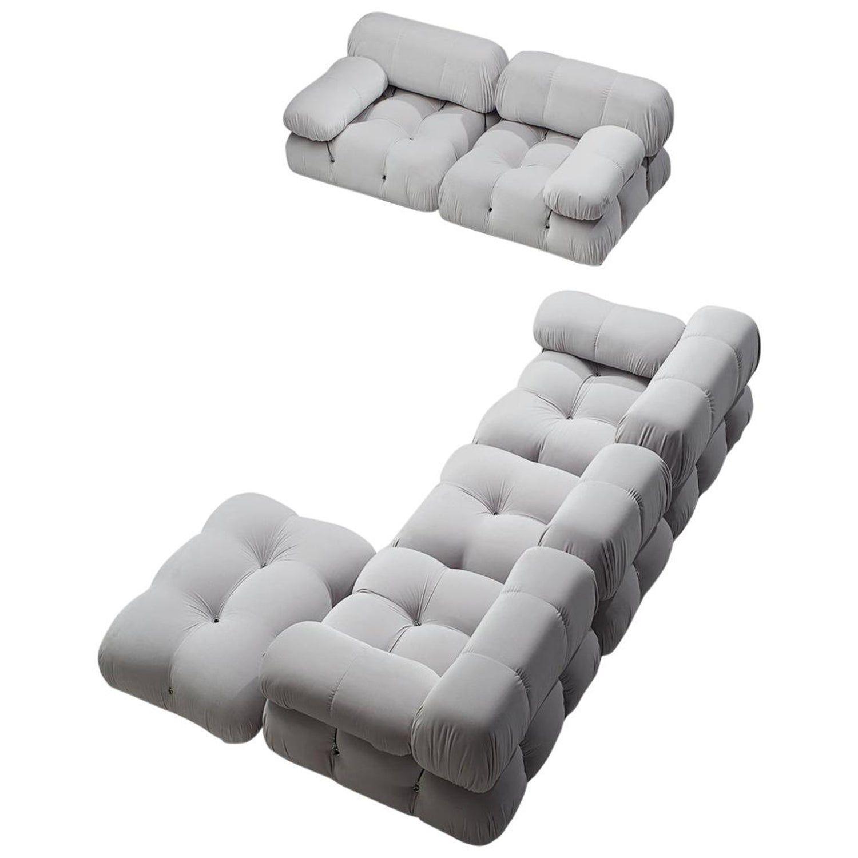 Mario Bellini Camaleonda Modular Sofa Reupholstered In Ice Grey Velvet Sofa Reupholstered Modular Sofa Modern Sofa Sectional