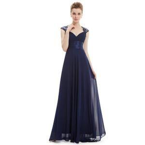 ce25dd0465572 Robe longue de soiree bleu marine pour mariage en Bleu Bleu marine - Achat    Vente robe de cérémonie - Cdiscount