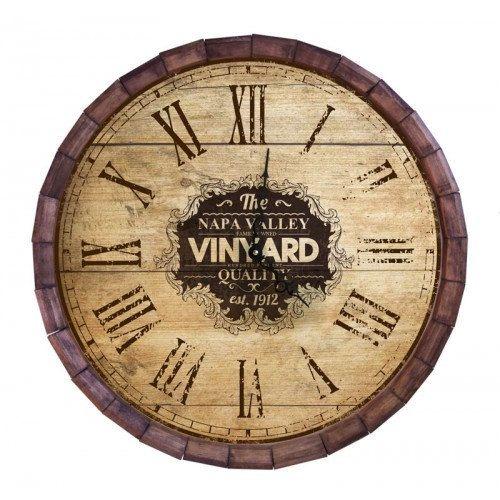 Custom Wooden Clock Wood Wall Clock Vineyard Themed Wino Vintage Wine Clock Winery Decor Wine Decoration Relojes Para Cocina Relojes De Pared Reloj