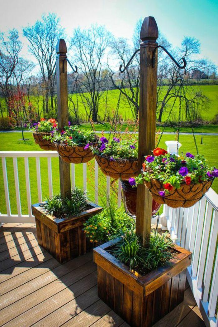 Comment Amnager Son Jardin Avec Des Pots Suspendus Avec Des Plantes