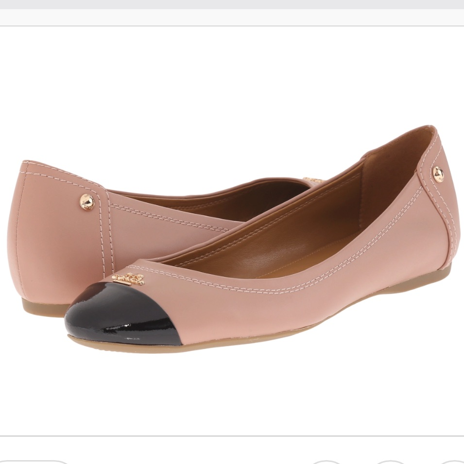 f3311cbdb458 ... uk coach shoes coach chelsea leather flats size 8.5 left only color  black pink size 8.5