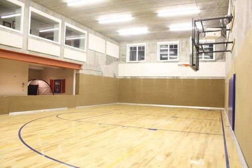 Windsong Gym Traditional Home Gym Home Gym Design Basketball Room Indoor Sports Court