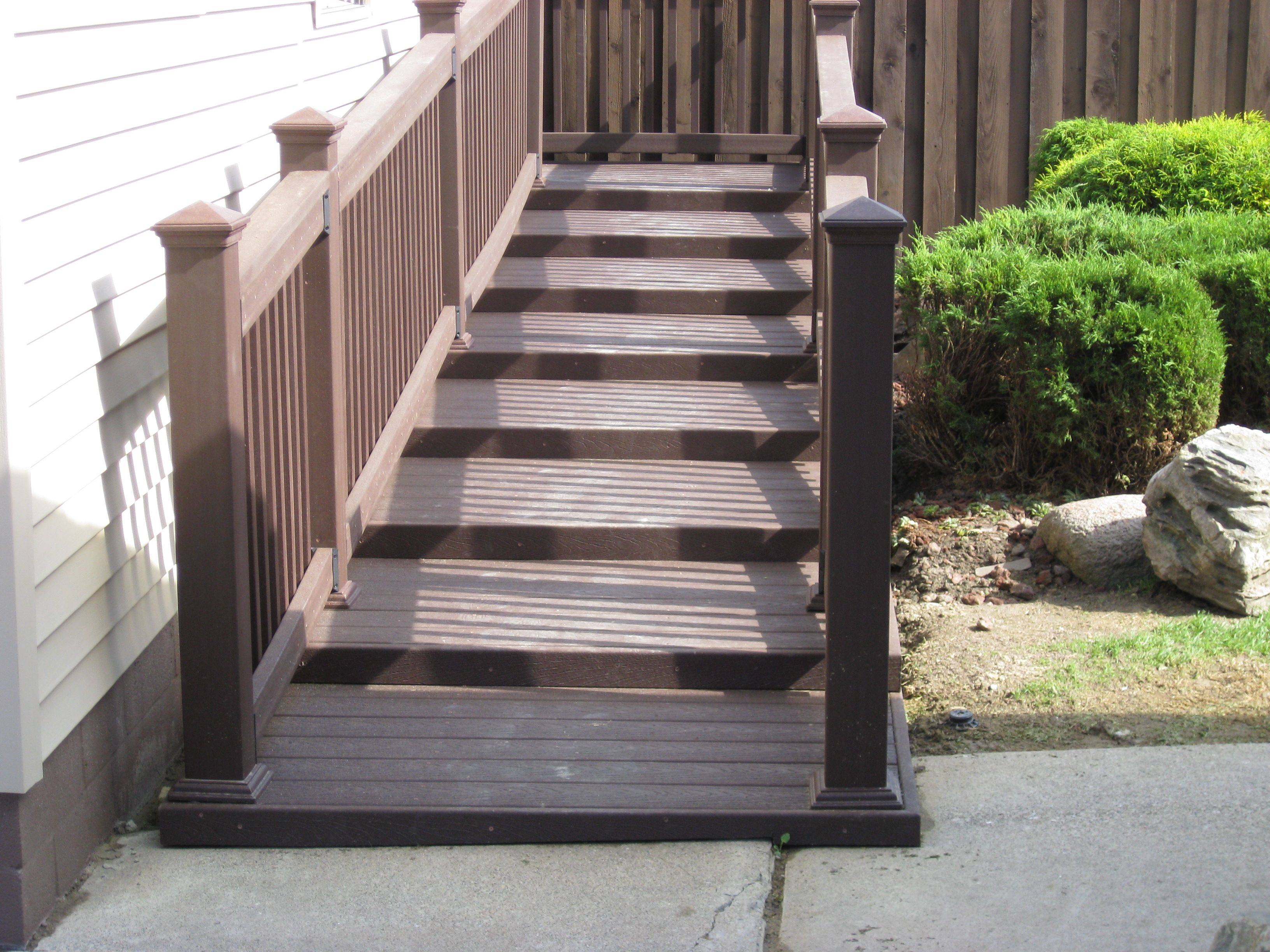 Pin by Nancy Smith on House ideas | Outdoor stairs, Ramp ... Ramp For Homes Stairs Designs on walkers for stairs, wheelchairs for stairs, power chairs for stairs, portable ramps for stairs,