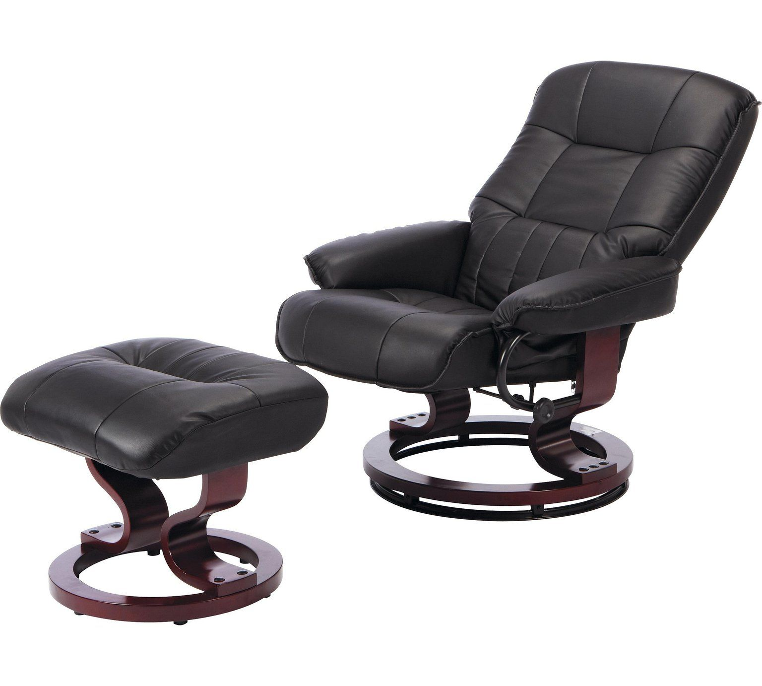 Buy Argos Home Santos Recliner Chair and Footstool - Black ...
