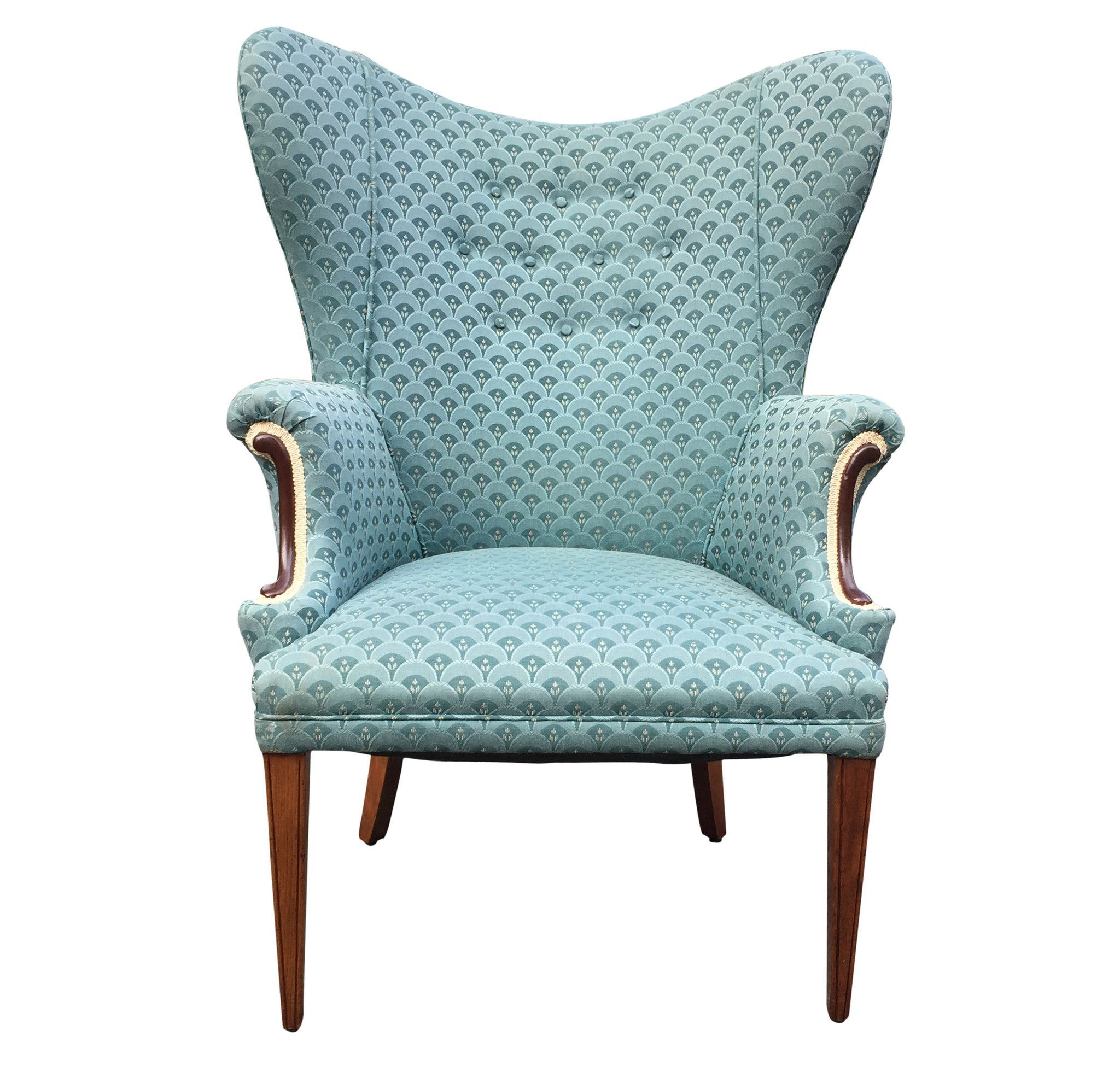 Enjoyable 1950S Wing Back Chair Products Chair Accent Chairs Pabps2019 Chair Design Images Pabps2019Com