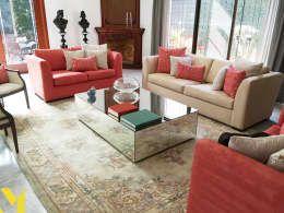 Livings de estilo clásico por MM estudio interior