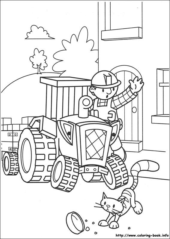 Bob the Builder coloring picture | transport | Pinterest