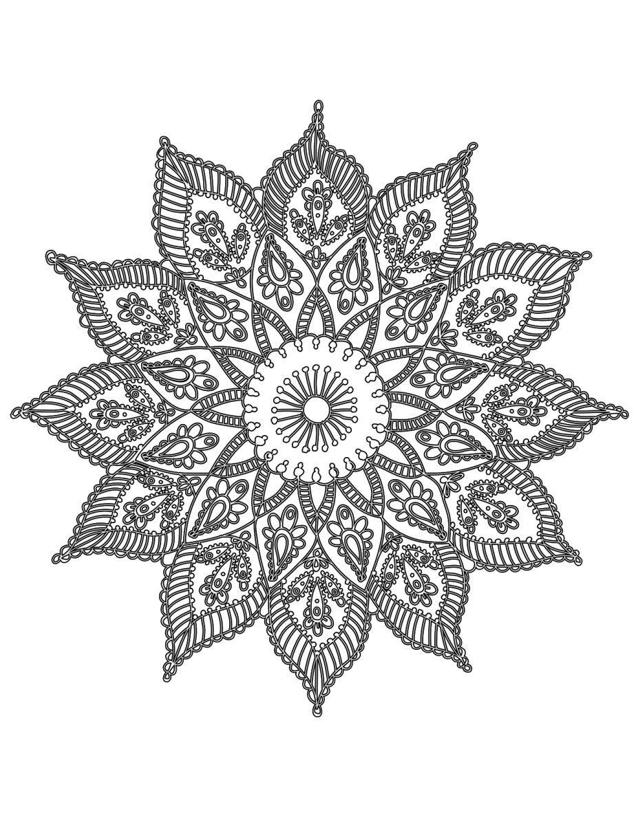 Free Ready To Print Flower Queen Mandala Queenmandala Com Mandala Coloring Pages Print