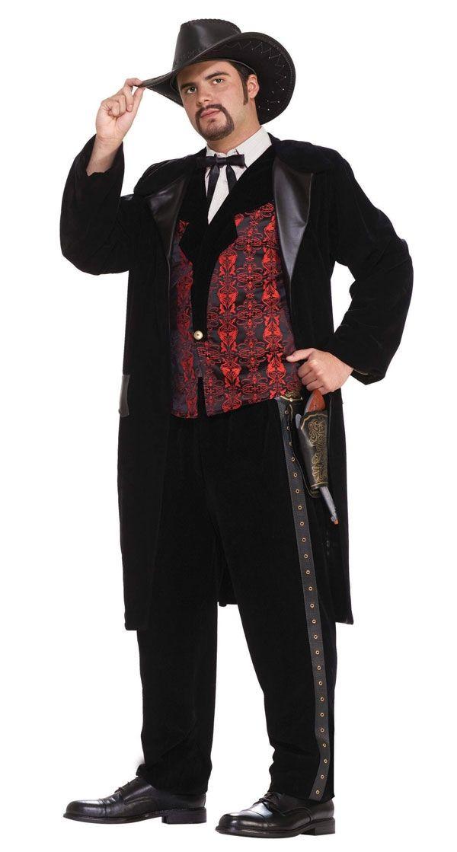 Gambler Adult Men/'s Costume Cowboy Western Halloween