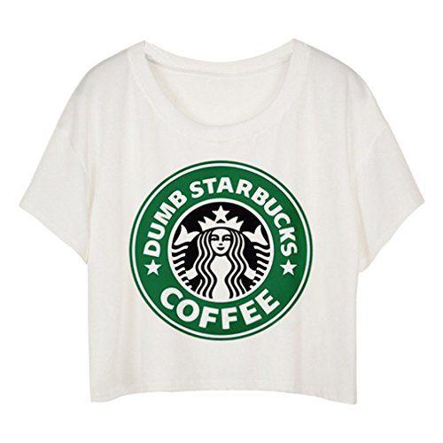 Camiseta manga corta para mujer con el logotipo de STARBUCKS impreso.