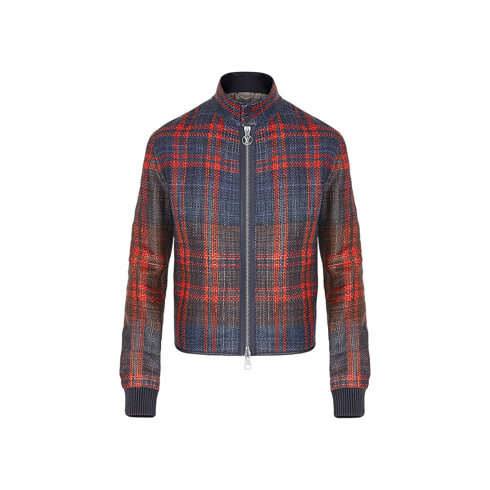 BRAIDED LEATHER BLOUSON via Louis Vuitton Clothes design