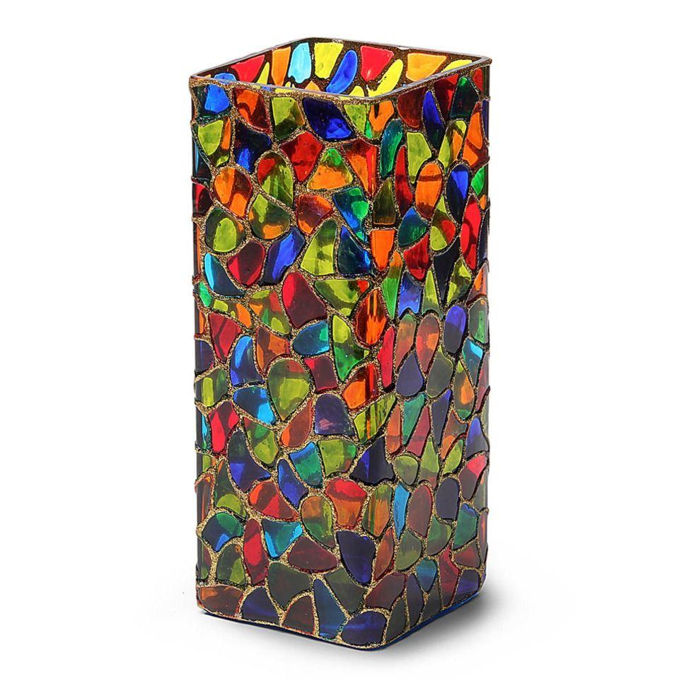 Square Mosaic Vase Recycled gifts, Oxfam, Mosaic vase
