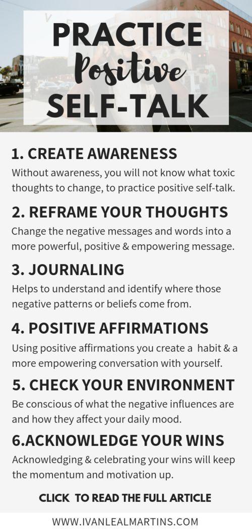 How to practice positive self-talk #lifecoachingtools