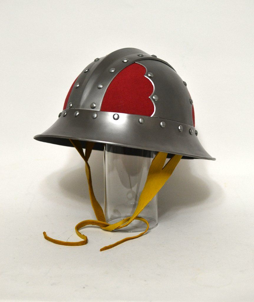 This Iron Hat Is Based On One Of The Many Helmets Of That Type Depicted In The Morgan Maciejowski Bible Medieval Helmets Medieval Helmet Design Medieval Helmet