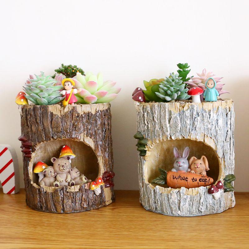 aliexpress: comprar creativa macetas de casa de árbol maceta