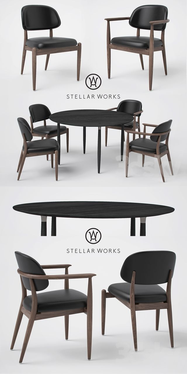 Fabulous Stellar Works Slow Side Chair Dining Chair And Dining Table Caraccident5 Cool Chair Designs And Ideas Caraccident5Info
