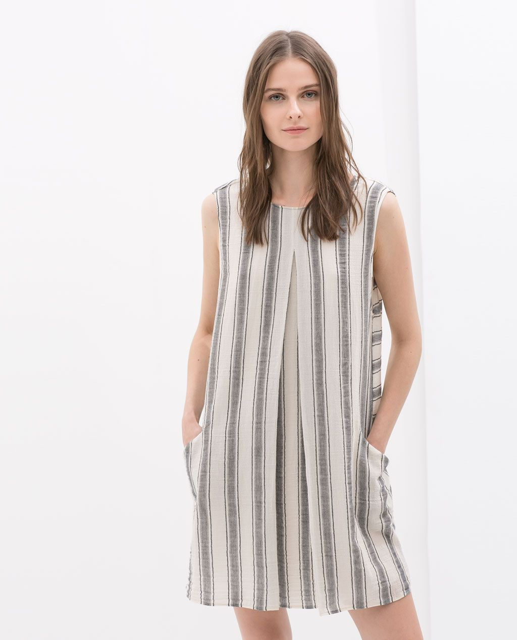 e8d2c29fc303 COMBINED STRIPED DRESS from Zara - Shift dress with set in pockets ...