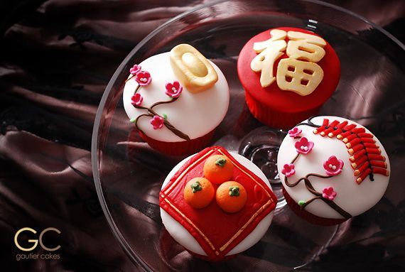 Chinese New Year Cupcake Designs for 2013