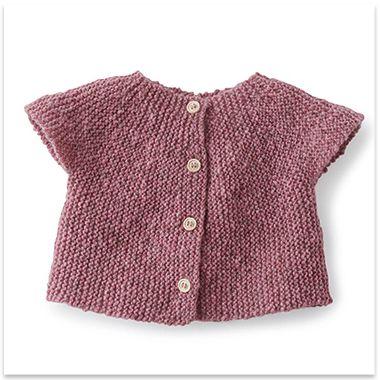 Modèles   patrons tricot gratuits   Layette, Motif gratuit et Cardigans 63dffc30eae
