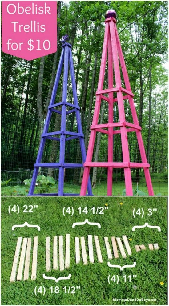 15 DIY Pflanzenträger und Käfige, die Sie in Ihrem Sommergarten brauchen – Basteln und Basteln - Diygarden.live #gardeningtools