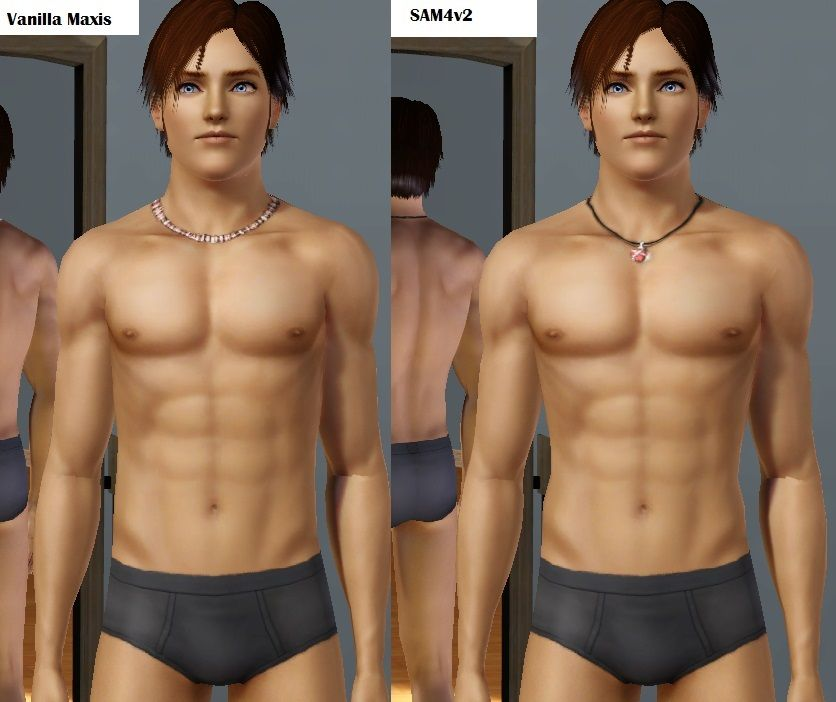 Fyi For Anyone Who Wants A Slightly More Realistic Male Body Mesh