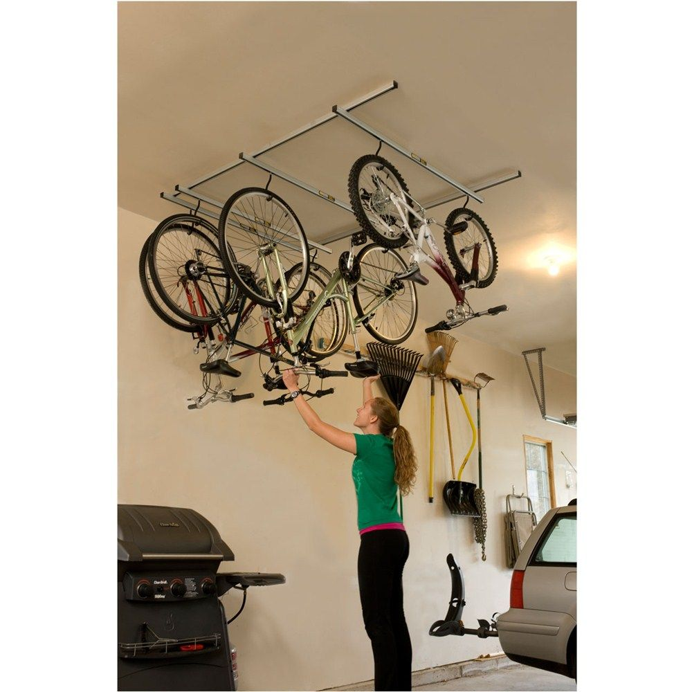 Saris Cycle Glide Bike Storage System Ceiling Mount 4 Bikes Saris Bike Storage Sa6020 Bike Storage Bicycle Storage Bike Storage Garage