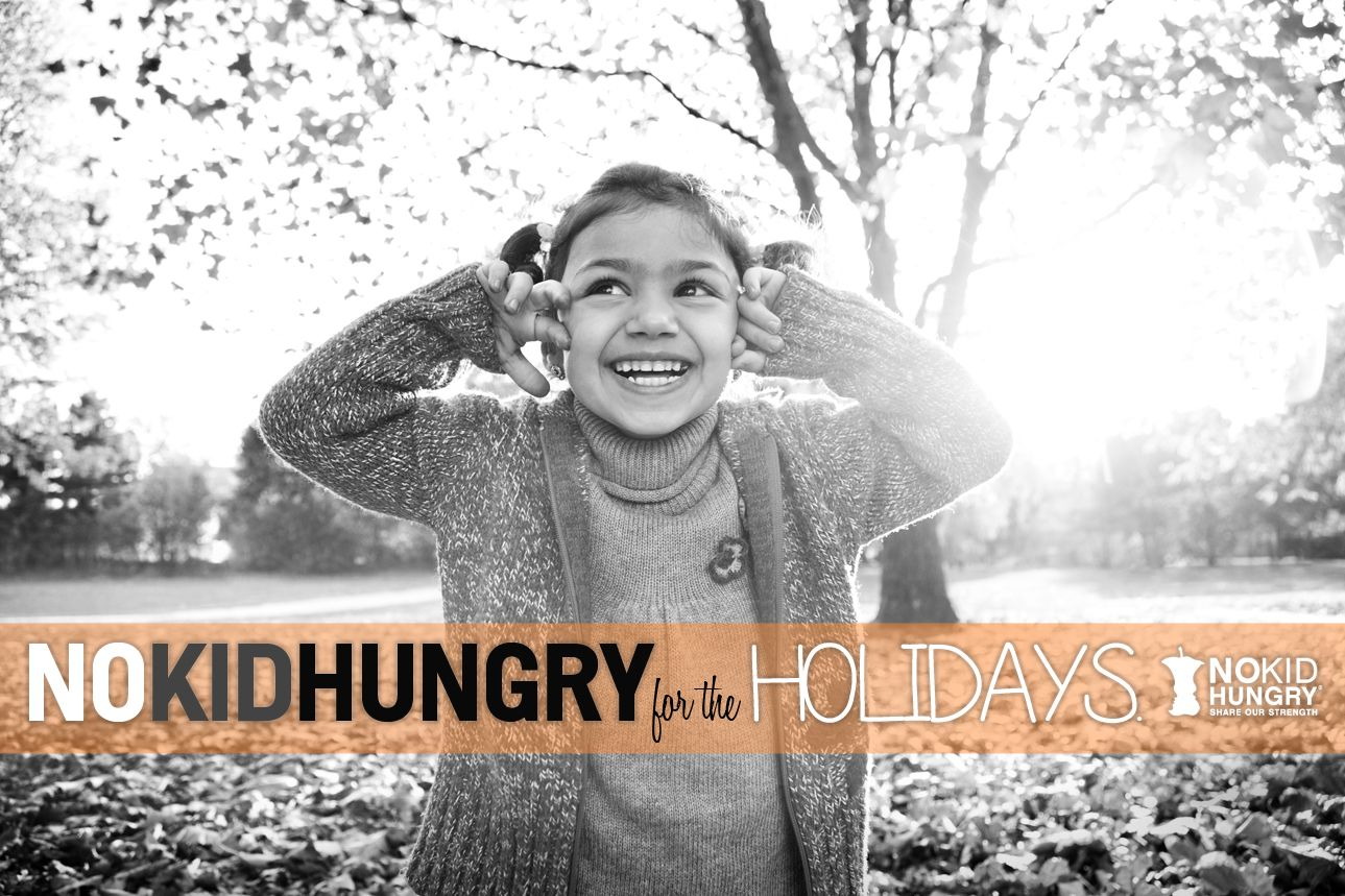 I believe that no child should be excited about going to school simply because it means they will have food to eat or should grab up an extra snack the second it becomes available so that they can stash it in their backpack for a younger sibling at home that will not have anything else to eat that night. Join the No Kid Hungry Holiday Give-A-Thon #NoKidHungry #TeamNKH #MomsFightHunger