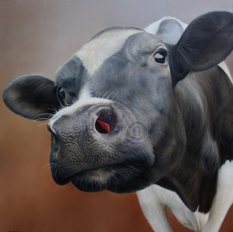 Ruby - Sam Dolman Cow Paintings