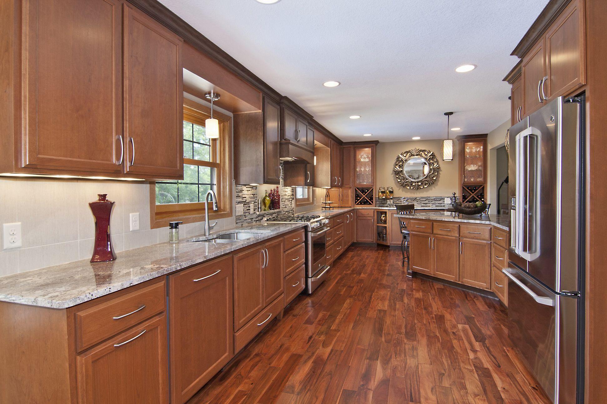 Acacia Sagebrush Plank Tuscan Kitchen Hardwood In Kitchen Wood Kitchen