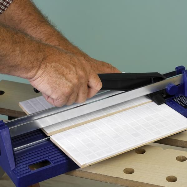 How To Cut Ceramic Tile Without A Tile Cutter Black And White