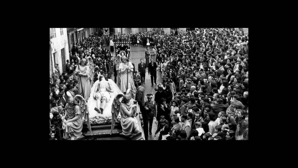 Semana Santa de Viveiro. Santo Entierro, año 1960. FOTÓGRAFO: FOTO CARLOS.