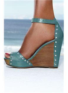 0052f475142 Cool Show Elegant Bowtie Peep Toe Wedge Heel Sandals