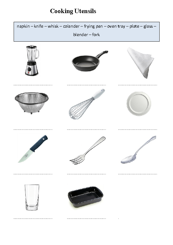 Click To Close Or Click And Drag To Move Kitchen Utensils