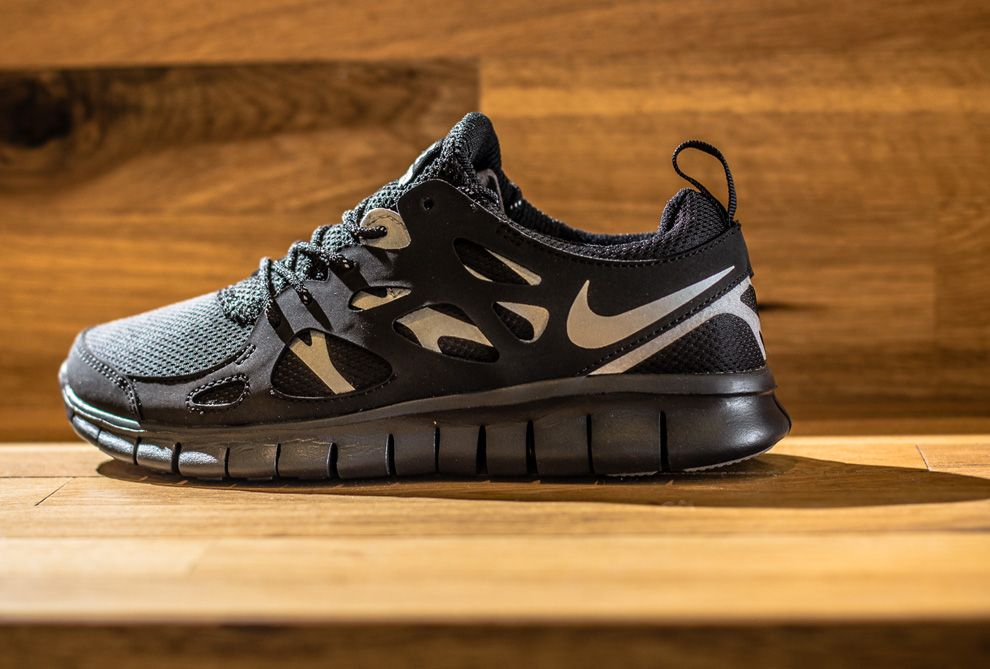 nike FREE RUN 2 (GS) grey/black/white bei KICKZ