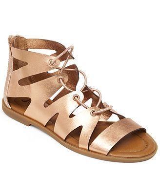 fee808417 Lucky Brand Women s Centiee Ghillie Flat Sandals