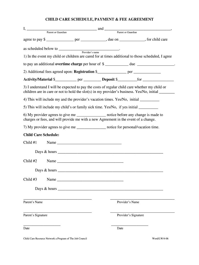 Babysitting Contract Fill Online Printable Fillable Pertaining