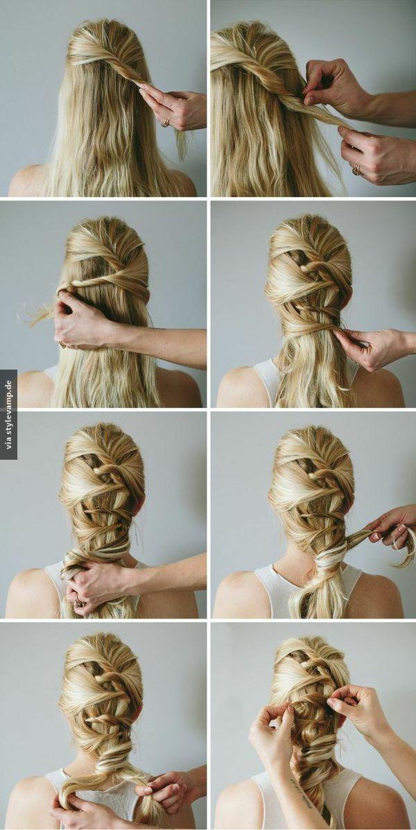 sehr schön   frisuren lange haare anleitung, frisuren