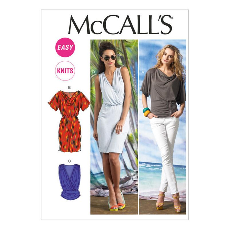 McCall's Sewing Pattern M6752  UNCUT Misses' Dress, Tops  SIZE: E5  14-16-18-20-22