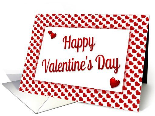 Happy Valentine's Day-Hearts card. Thank you customer in North Carolina!