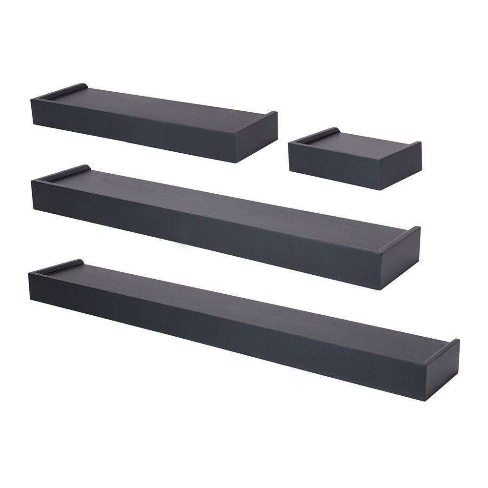 Nexxt Vertigo Wall Shelf 4-piece Set, Black