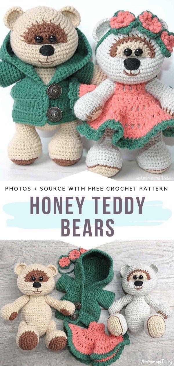 Heart-Melting Teddy Bears Crochet Patterns #teddybearpatterns