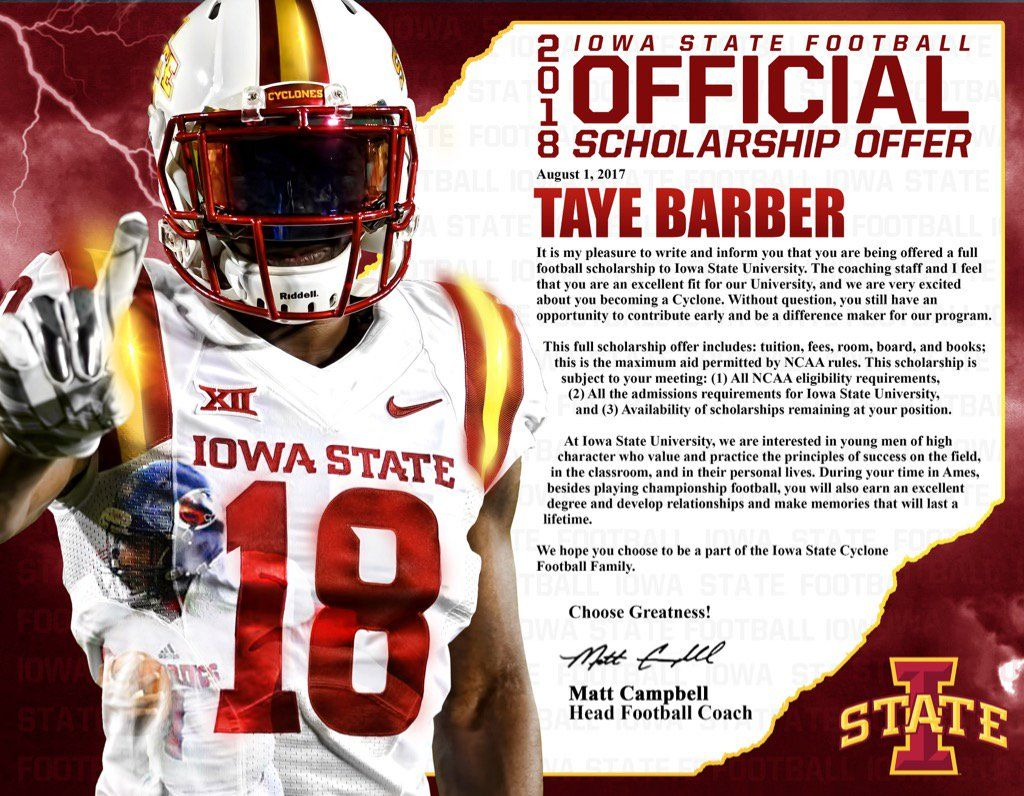 Iowa State Football Officials College Football Teams Iowa State