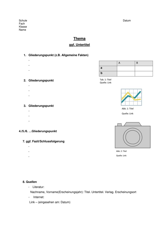 Muster Handout Unterrichtsmaterial In Den Fachern Deutsch Englisch In 2020 Handout Unterrichtsmaterial Englischunterricht
