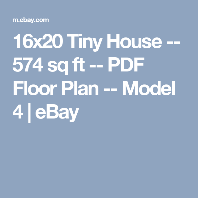 16x20 Tiny House 574 Sq Ft PDF Floor Plan Model 4