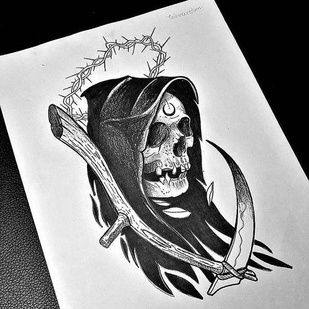 Pingl par guy leclere sur skull pinterest tatouage dessin et faucheuse - Dessin du genou ...