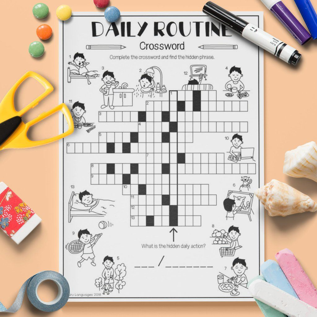 Daily Routine Crossword
