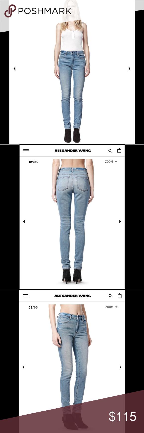 73199a806e Alexander Wang skinny jeans Wang 001 indigo fade AUTHENTIC WANG 001 SLIM  FIT HIGH RISE JEAN