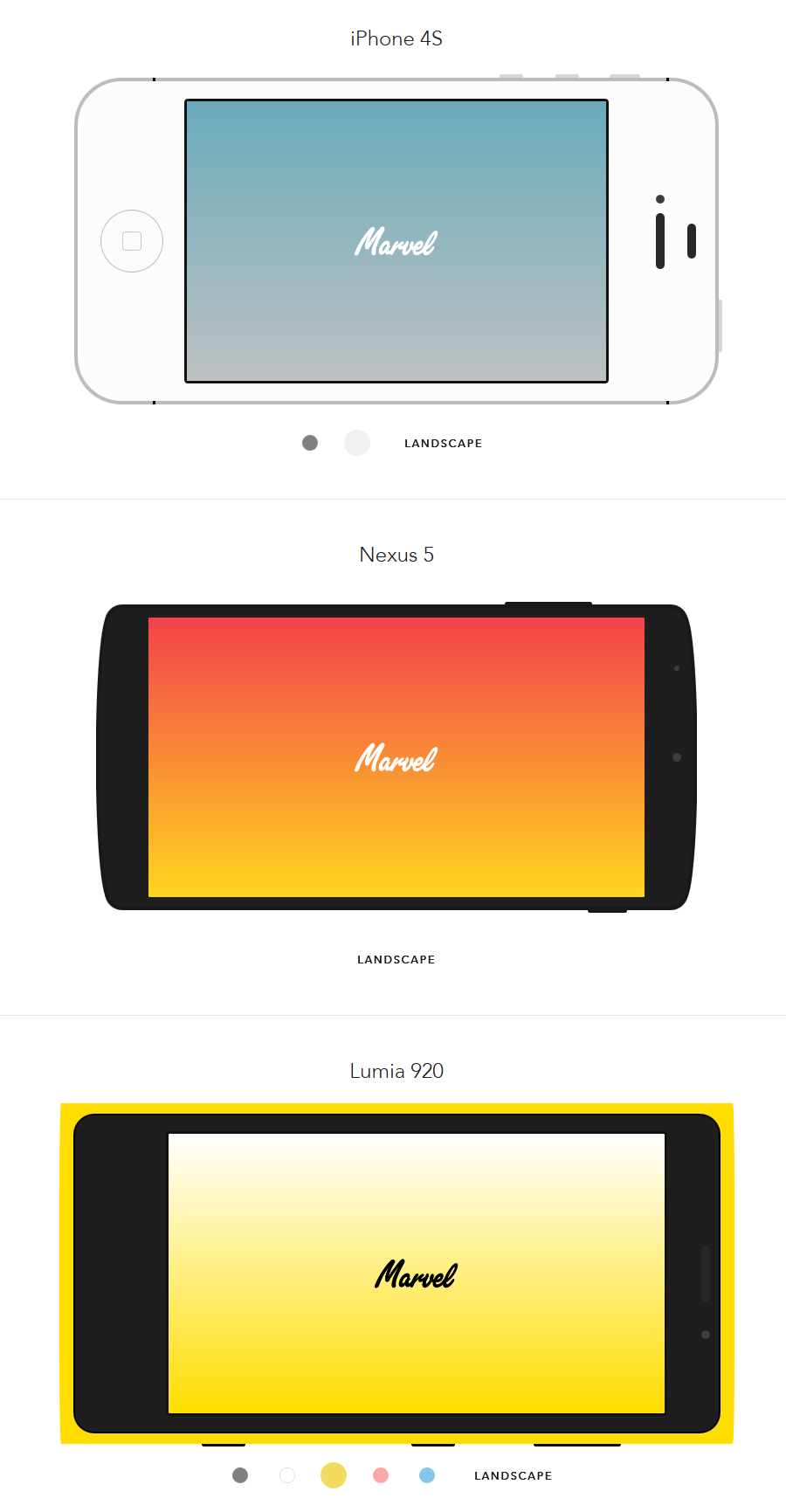 8 Pure CSS Flat Mobile Devices Mockups | Pinterest | Mockup, Web ...