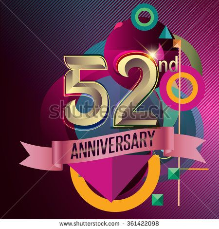 52nd Anniversary Party Poster Party Invitation Background