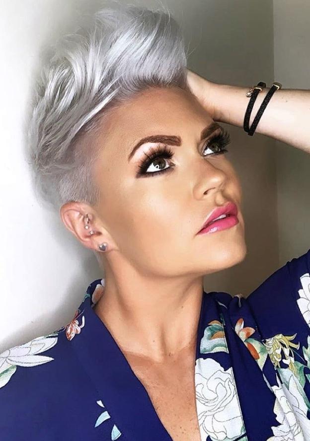 56 Stylish Short Hair Style For Female-Short Pixie Haircut  #shortpixie